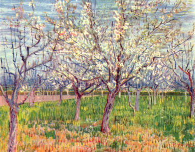 Vincent van Gogh, De roze boomgaard, begin april 1888, Van Gogh Museum, Amsterdam